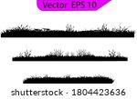 grass silhouette. turf coating... | Shutterstock .eps vector #1804423636