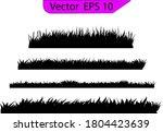 grass silhouette. turf coating... | Shutterstock .eps vector #1804423639