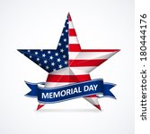 memorial day with star in... | Shutterstock .eps vector #180444176