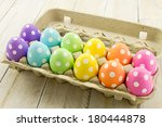 brightly colored polka dot...   Shutterstock . vector #180444878