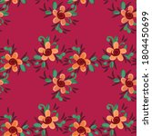 seamless pattern of flowers and ...   Shutterstock .eps vector #1804450699