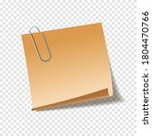 realistic sticky note sheet.... | Shutterstock .eps vector #1804470766