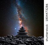Zen Stones In Balance With The...