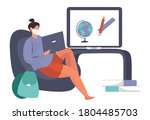 back to school during... | Shutterstock .eps vector #1804485703