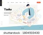 business topics  tasks  web... | Shutterstock .eps vector #1804503430