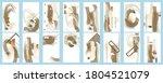 set dijital art painting...   Shutterstock .eps vector #1804521079