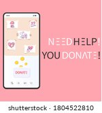 donate online in smartphone app....