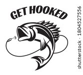 Fishing quote and saying with jumping fish and hook drawing, designed in vector art. Created for anglers. Design element for T shirts, mugs, decals and crafts.