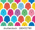 funny seamless pattern with... | Shutterstock .eps vector #180452780
