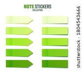 realistic green sticky notes... | Shutterstock .eps vector #1804543666