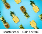 Colorful Pattern Of Pineapples...
