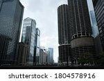 Cityscape Of Downtown Chicago...