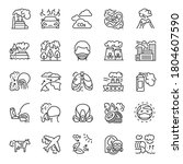 air pollution  icon set....   Shutterstock .eps vector #1804607590