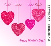 happy mother's day background... | Shutterstock . vector #180461183