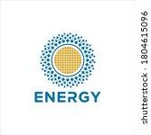 solar energy logo design...   Shutterstock .eps vector #1804615096
