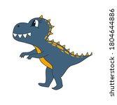 set of cute dinosaur print.... | Shutterstock .eps vector #1804644886