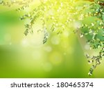 fresh green leaves on natural... | Shutterstock .eps vector #180465374