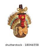 Autumn Turkey Figurine Isolate...