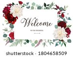 classic luxurious red roses ... | Shutterstock .eps vector #1804658509