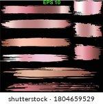 gold rose brush stroke. pink ... | Shutterstock .eps vector #1804659529