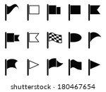 black flag icons | Shutterstock .eps vector #180467654
