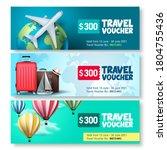travel voucher template vector... | Shutterstock .eps vector #1804755436