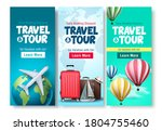 travel and tour poster set... | Shutterstock .eps vector #1804755460