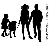 vector silhouette of a family... | Shutterstock .eps vector #180476000
