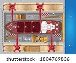 repair of ships. dock. view...   Shutterstock .eps vector #1804769836