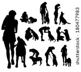 vector silhouette of a woman... | Shutterstock .eps vector #180477983