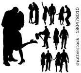 vector silhouette of people who ...   Shutterstock .eps vector #180478010
