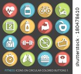 fitness icons on circular...   Shutterstock .eps vector #180478610