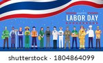 happy labor day. various... | Shutterstock .eps vector #1804864099