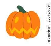 evil pumpkin lantern for... | Shutterstock .eps vector #1804873369