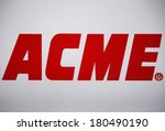 "Small photo of JANUARY 27, 2014 - BERLIN: the logo of the brand ""ACME""."