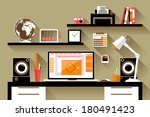 flat design vector illustration ... | Shutterstock .eps vector #180491423