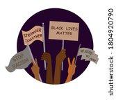 black lives matter banner for...   Shutterstock .eps vector #1804920790