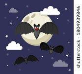 bat. flying bat halloween... | Shutterstock .eps vector #1804939846