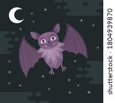 bat. flying bat halloween... | Shutterstock .eps vector #1804939870