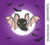 bat. flying bat halloween... | Shutterstock .eps vector #1804939876