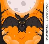 bat. flying bat halloween... | Shutterstock .eps vector #1804939900