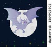 bat. flying bat halloween... | Shutterstock .eps vector #1804939906