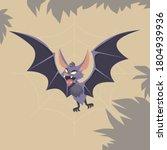 bat. bat flyling over the... | Shutterstock .eps vector #1804939936