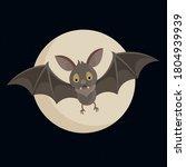 bat. flying bat halloween... | Shutterstock .eps vector #1804939939