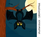 bat. cute bat flying on a... | Shutterstock .eps vector #1804939966