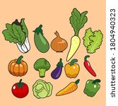 a large set of vegetables.... | Shutterstock .eps vector #1804940323