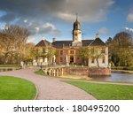 Medieval Fortress Fraeylemaborg in Slochteren, the Netherlands - stock photo