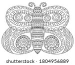 fairy tail butterfly coloring... | Shutterstock .eps vector #1804956889