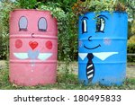 Two Funny Street Planters In...