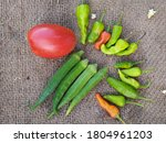 Green Chillies And Okra   Fres...